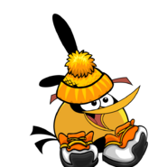 Christmas Orange Bird