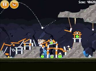 Official Angry Birds Walkthrough Mine and Dine 15-12
