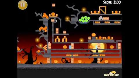 Angry Birds Seasons Trick or Treat Golden Egg 3 Walkthrough