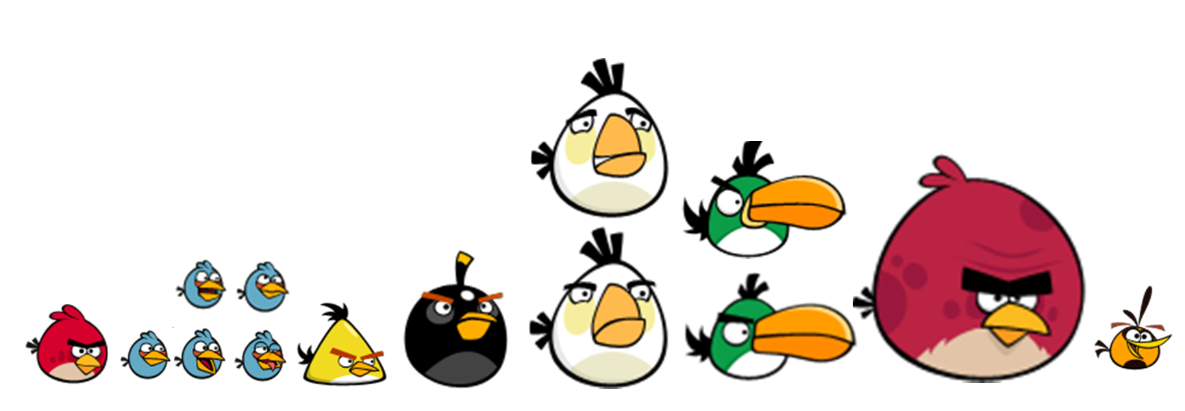 Image - All birds classic and modern.png | Angry Birds ...