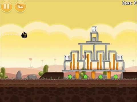 Official Angry Birds Walkthrough Poached Eggs 3-15