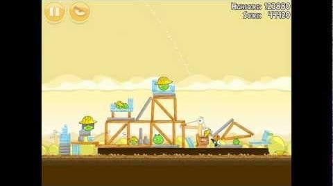 Angry Birds Big Setup 11-1 Walkthrough 3 Star