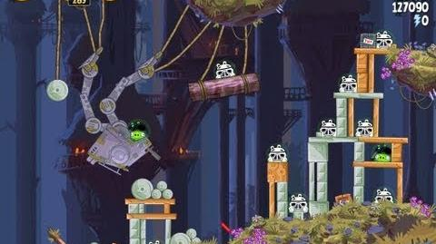 Angry Birds Star Wars 5-28 Moon of Endor 3 Star Walkthrough