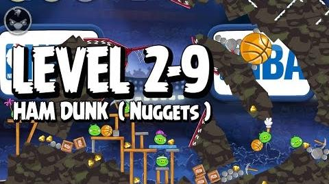 Angry Birds Seasons Ham Dunk 2-9 - Nuggets - Walkthrough 3 Star
