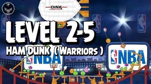 Angry Birds Seasons Ham Dunk 2-5 - Warriors - Walkthrough 3 Star