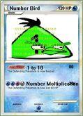 Number bird card