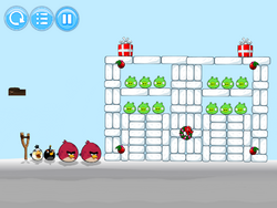 Angry Birds Snow Of The Snorks - Level 1-3