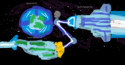 Space earth,Earth fighter 1.0 and 2.0