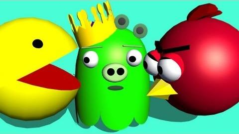 ANGRY BIRDS playing PACMAN ♫ 3D animated game mashup ☺ FunVideoTV - Style ;-))