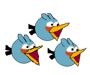 Blue Birds Angry Pacbirds