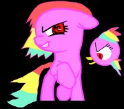Evil pony and bird version