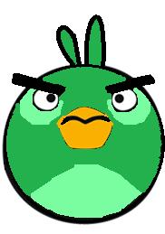 Green bomb bird-45443