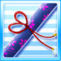 War of Flowers Picture Scroll Blue