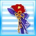 One Flower Ornament Blue