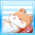Sleeping hamster - Orange