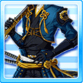 The skillful warrior blue