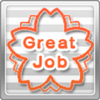 Great Job Stamp Orange x10