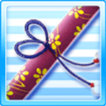War of Flowers Picture Scroll Red