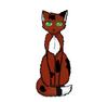 Cat sitting123