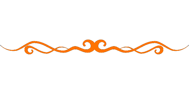File:Orange Page Divider on Squiggle Shape
