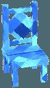 Sapphire blue chair