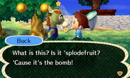 Buck splodefruit