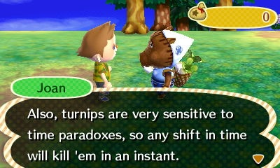 Animal Crossing New Leaf Turnips Time Travel