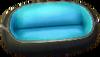 Astro blue and black sofa