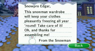 Snowman Letter