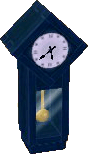 Dark blue clock