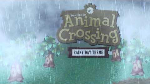 Animal Crossing Rainy Day Theme (Animated Desktop)