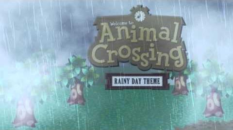 Animal Crossing Rainy Day Theme (Animated Desktop)
