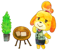 Isabelle and two pieces of furniture