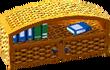 Cabana bookcase gold