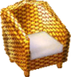 Cabana armchair gold