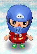 Racer look with motocross helmet
