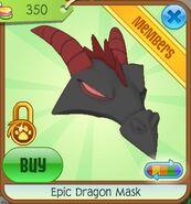 Epic Dragon Mask (Black-Gray)