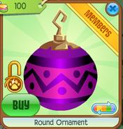 Shop Round-Ornament Zigzag-Pink