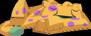 Cheetah sleeping