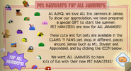 Pet hamster in jamaa journal