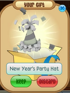 Gift New-Years-Party-Hat White