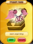 Meet-Cosmo Raccoon Mech-Angel-Wings Pink