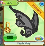 Faerie Wings (Black-Gray)