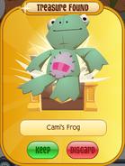 Cami's-Frog Treasure-Prize