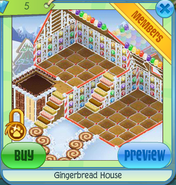 Gingerbread house den