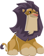 Lion sitting graphic