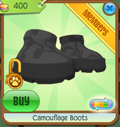 Camouflage Boots Black