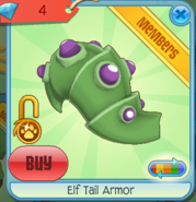 Diamond-Shop Elf-Tail-Armor Green-Purple