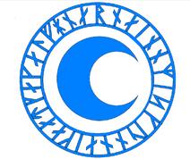 Blue Cresent Magic Symbol