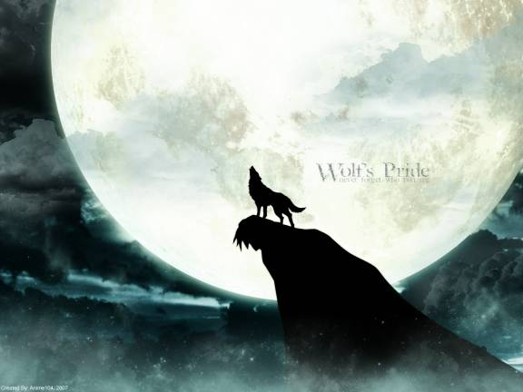 File:Wolf howling at moon by ookami no getsuei.jpg